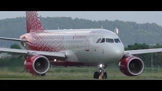 Rossiya FV 578 Graz Airport - Krasnodar Airport 09.07.2017 Departure: 18.38 Arrival: 22.34 Takeoff Graz Airport  GRZ  LOWG Runway 17C, 3000m x 45m Asphalt ...