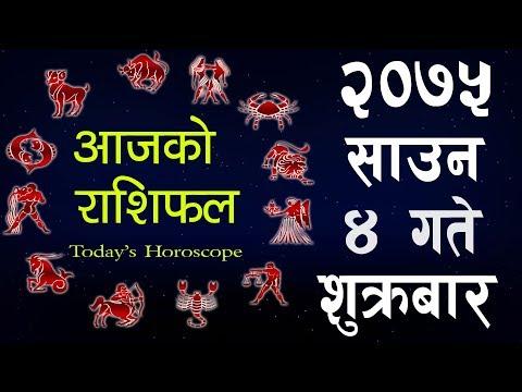 (Aajako Rashifal 2075 SAAUN 4, Today's Horoscope ..12 min)