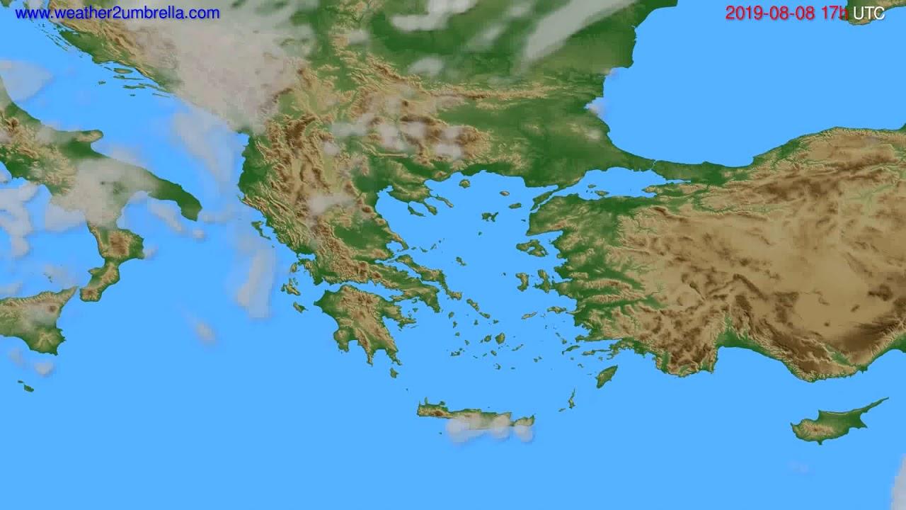 Cloud forecast Greece // modelrun: 00h UTC 2019-08-07