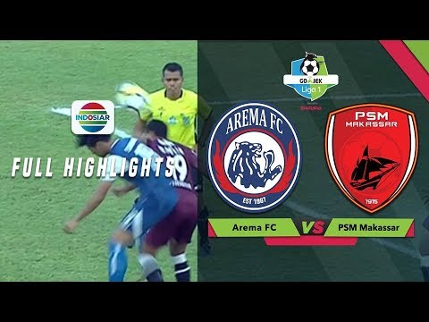 Arema Fc (1) vs (1) PSM Makassar - Full Highlight | Go-Jek Liga bersama Bukalapak