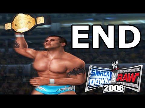 WWE Smackdown Vs Raw 2006 Season Mode Walkthrough Ending - No Commentary Playthrough (PS2)