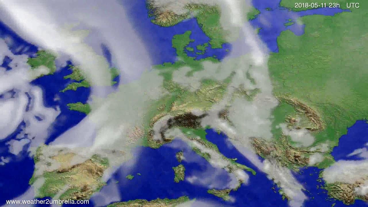 Cloud forecast Europe 2018-05-08