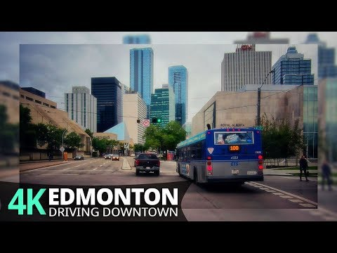 Edmonton 4K60fps - Driving Downtown - Alberta, Canada