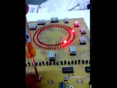 Analog Clock using LED, 555 timer, 4017 counter 2