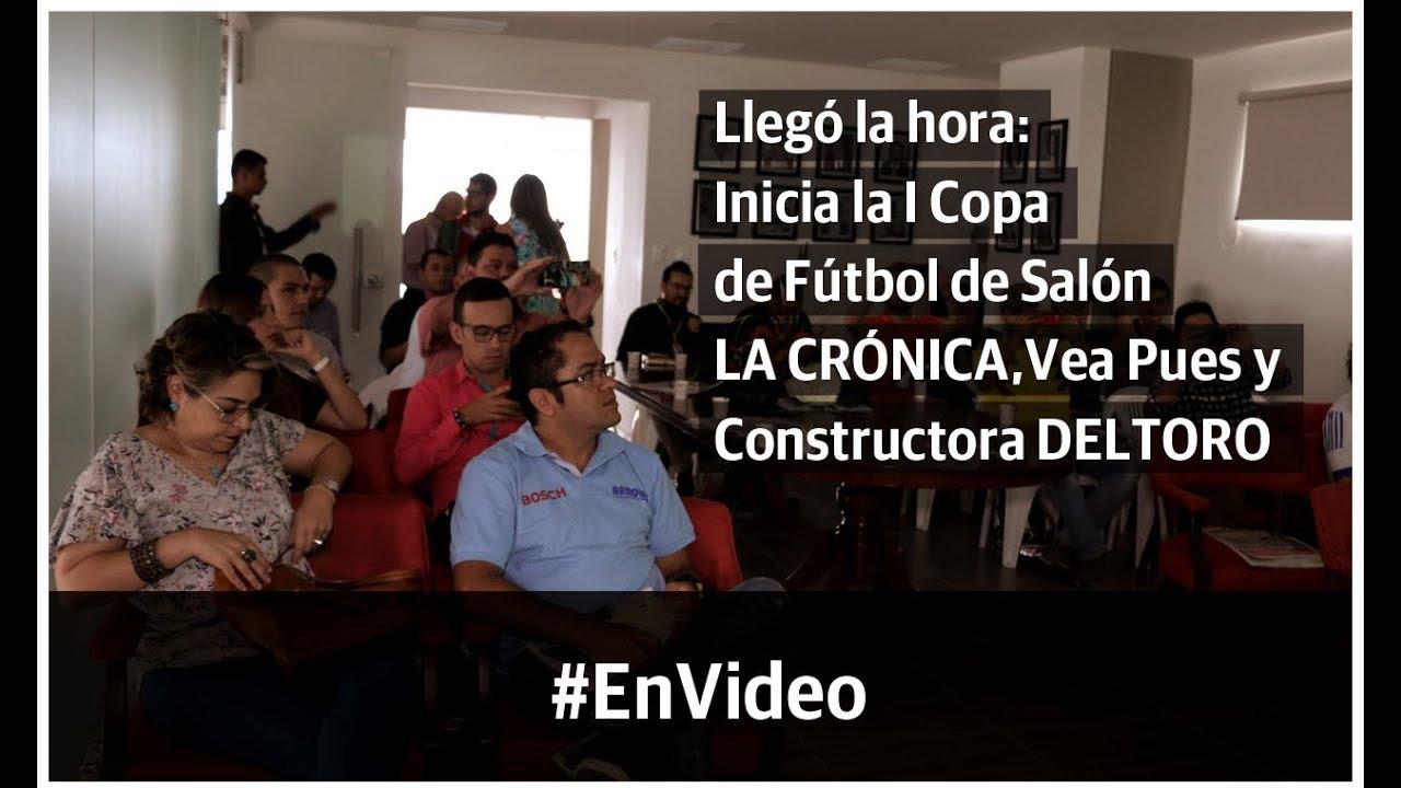 Inicia la I Copa de Fútbol de Salón LA CRÓNICA, Vea Pues y Constructora DELTORO