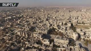 Беспилотник заснял освобождённый от боевиков Старый город Алеппо