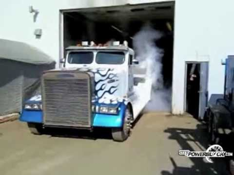 myPowerBlock: Semi truck burnout