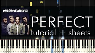 Perfect - Piano Tutorial - How to Play - One Direction