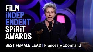 Video FRANCES MCDORMAND wins Best Female Lead at the 2018 Film Independent Spirit Awards MP3, 3GP, MP4, WEBM, AVI, FLV November 2018