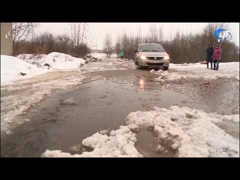 Возле дома № 181 по улице Большая Санкт-Петербургская образовался потоп