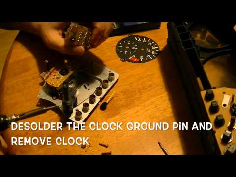 How to repair a Mercedes w124 electronic clock