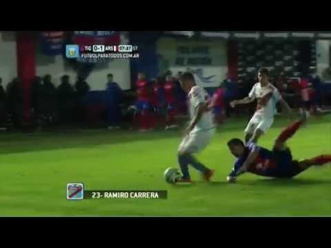 Tigre - Ramiro Carrera le está dando la victoria a Arsenal desde los 7 minutos del complemento.