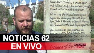 Regalan pedazo del muro de Berlín a Donald Trump – Noticias 62 - Thumbnail
