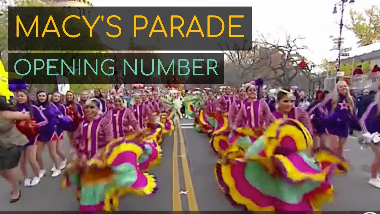 Kruti in the Macy's Thanksgiving Parade Opening Number!