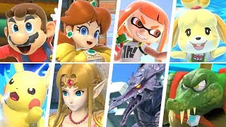 Super Smash Bros Ultimate - All 74 Characters Gameplay  Final Smashes