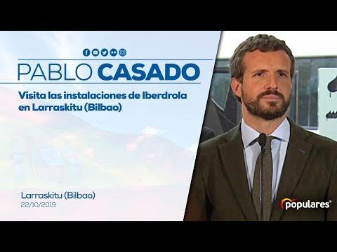 Pablo Casado visita las instalaciones de Iberdrola...