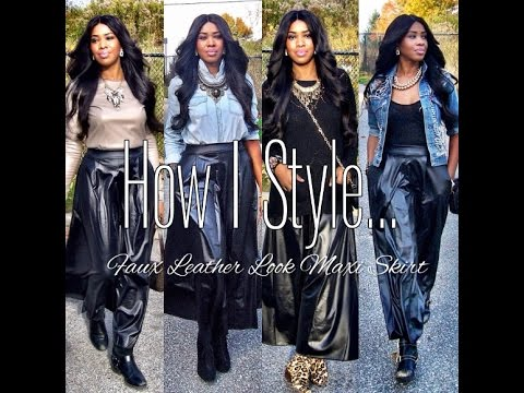 Faux Leather Maxi... How I Style