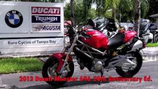 9. 2013 Ducati Monster 696 20th Anniversary Edition at Euro Cycles of Tampa Bay