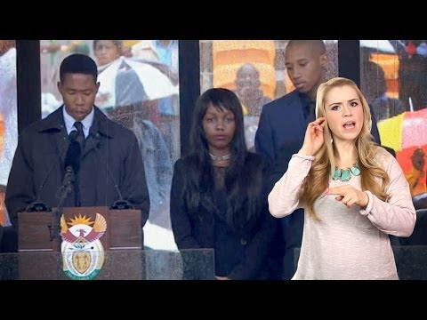 YouTube - South African sign language translator at Nelson Mandela's funeral was a fraud. Buy some awesomeness for yourself! http://www.forhumanpeoples.com/collections...