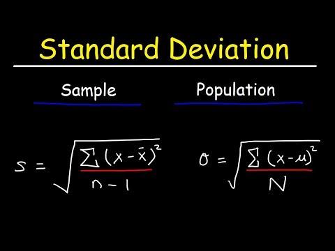 Standard Deviation Formula, Statistics, Variance, Sample and Population Mean