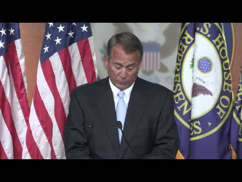 John Boehner - A lot of questions are being raised as a result of these revelations and, as Speaker Boehner said at a press conference today,