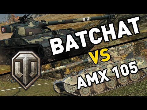World of Tanks    BatChat vs AMX 13 105