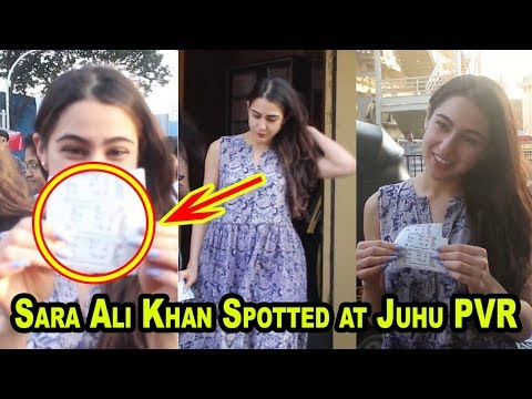 Exclusive : Sara Ali Khan Spotted at Juhu PVR