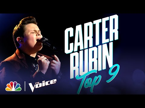 """Carter Rubin Sings """"Rainbow Connection"""" from The Muppet Movie - The Voice Live Top 9 Performances"""