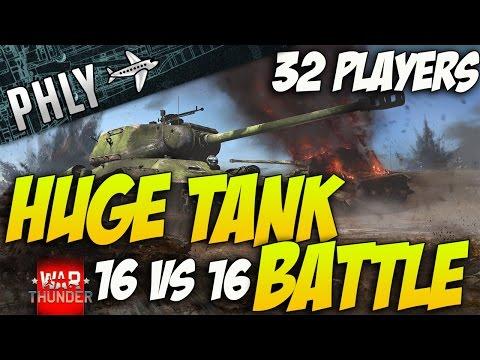 War Thunder –  HUGE Tank Battle 32 Players! IS-1 Tank Gameplay