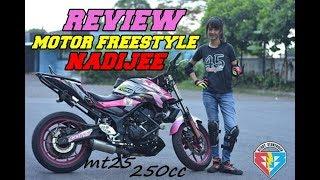 Video REVIEW MAINAN NADIJE LADYSTUNT YAMAHA MT25 | FreestyleVLOG Indonesia MP3, 3GP, MP4, WEBM, AVI, FLV Maret 2019