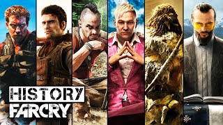 Here is the history of Far Cry games, or you can say Far Cry Evolution from 2004 to 2018. We listed all of the Far Cry games in one video with order, platforms and year. What is the best Far Cry games you have played? Let us know in the comment down below.➢ History/Evolution of Assassin's Creed : https://www.youtube.com/watch?v=u8CebuSZ4gw♦ List ♦■ Far Cry   Year : 2004   Platform : PC, Xbox 360, PlayStation 3■ Far Cry 2   Year : 2008   Platform : PC, Xbox 360, PlayStation 3■ Far Cry 3   Year : 2012   Platform : PC, Xbox 360, PlayStation 3■ Far Cry 4   Year : 2014   Platform : PC, Xbox 360, PlayStation 3, Xbox One, PlayStation 4■ Far Cry Primal   Year : 2016   Platform : PC, Xbox One, PlayStation 4■ Far Cry 5   Year : 2018   Platform : PC, Xbox One, PlayStation 4♦ Follow us ♦■ Facebook : https://www.facebook.com/TechMasterTricks■ Twitter : https://twitter.com/TechMasterTrick■ Google+ : https://plus.google.com/+TechMasterTricks♬ Music ♬  ■ Intro : Machine Gun - Noisia - 16bit Remix■ Outro : Kasger & Limitless - Miles Away♦ Tag ♦history of far cryhistory of far cry games 2017evolution of far cry 2017far cry evolutionfar cry evolution of graphicsfar cry historyfar cryfar cry 5all far cry gameslist of far cry gameshistory of far cry gameslist of far cry games 2017far cry 5 gameplayfar cry 5 E3 2017 official gameplayfar cry 5 gameplay trailerfar cry 5 offial announce trailer