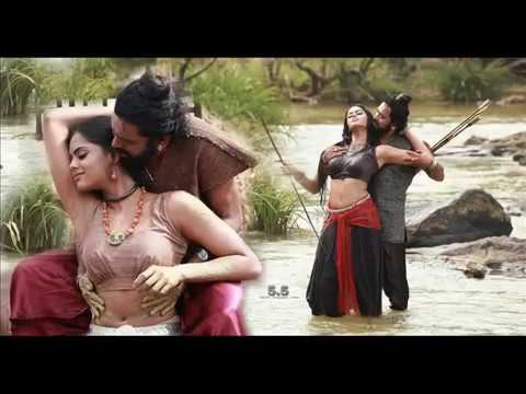 @ @ Karthika Hot Tight Thighs Pressed By The Hero In Romantic Scene And Sexy Exposal