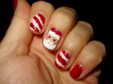 Santa Claus Nail Tutorial