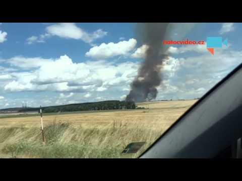 požár pole Výčapy na Třebičsku