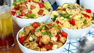 Easy Pasta Salad 3 Delicious Ways by The Domestic Geek