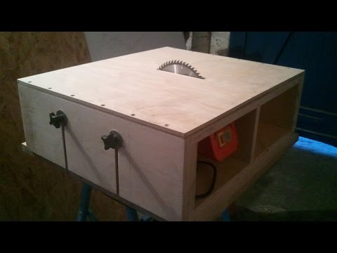 homemade - So I had a table saw motor from what was a cheap machine, that contained the start and stop button, drive motor, mounting holes and blade in one unit. I got ...