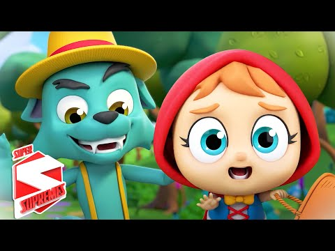 Little Red Riding Hood | Nursery Rhymes & Kids Songs | Fairy Tales | Baby Song with Super Supremes
