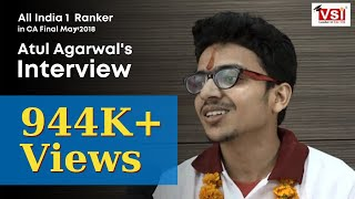 Video All India 1st Ranker in CA Final May 2018 - Atul Agarwal's Interview MP3, 3GP, MP4, WEBM, AVI, FLV Desember 2018