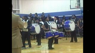 gwendolyn Brooks College Prep's 2010-2010 Marching Band performing at a concert combined with the choir.