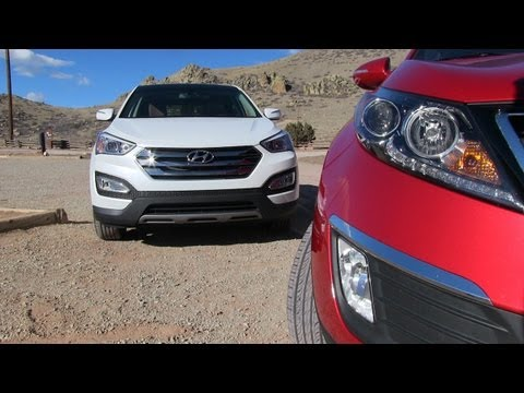 2013 KIA Sportage SX vs Hyundai Santa Fe Sport 0-60 MPH Mashup Review