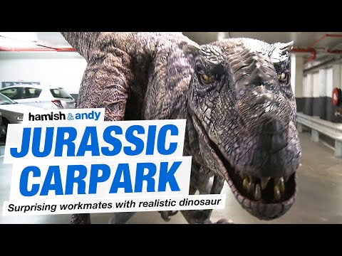 Jurassic Carpark An Incredibly Realistic Animatronic Dinosaur Scares People in a Dark Parking
