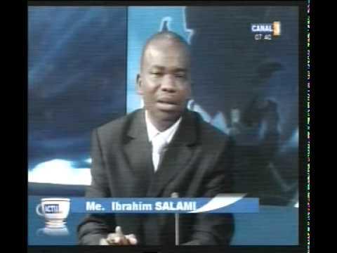 Ibrahim SALAMI présente les décisions de la Cours