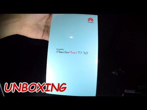 Unboxing Huawei T1 7.0 MediaPad and startup.