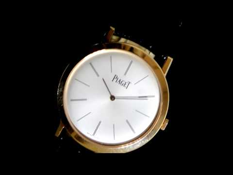 Men's 18k Rose Gold Piaget 'Altiplano' Mechanical Wristwatch, with Box
