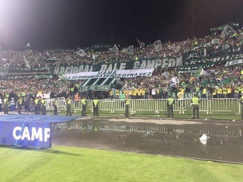 Recopa Sudamericana. Nacional vs Chapecoense - Los del Sur - Atlético Nacional - Colombia - América del Sur
