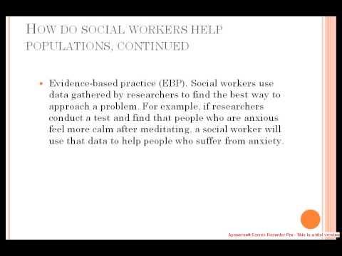 Social Worker Job Description