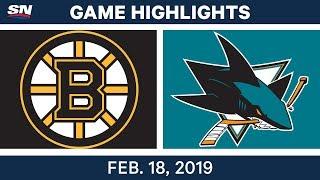 NHL Highlights | Bruins vs. Sharks - Feb 18, 2019 by Sportsnet Canada