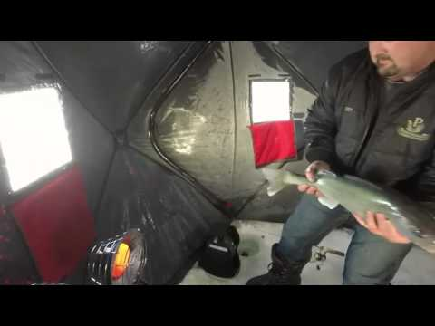 Ice Fishing Lake Winnipeg Jan.2015