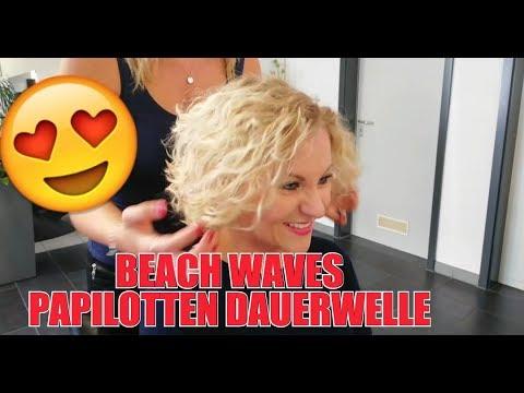 BEACH WAVES PERM PAPILOTTEN DAUERWELLE CURLS BY JOERG MENGEL FRISEURE