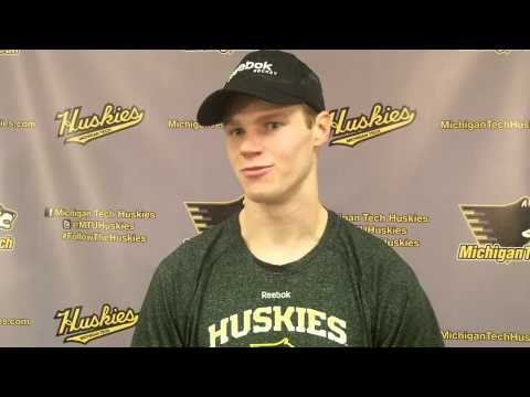 Reid Sturos Postgame Interview vs. Northern Michigan 2-21-14